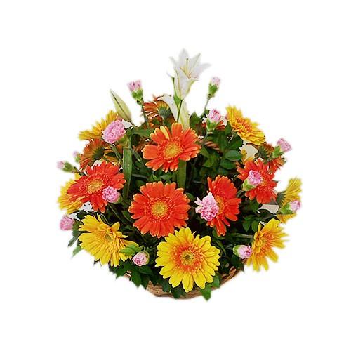 Jual Karangan Bunga Meja Rangkaian Bunga Vas Table Flower M8 Jakarta Barat Raja Swalayan Tokopedia