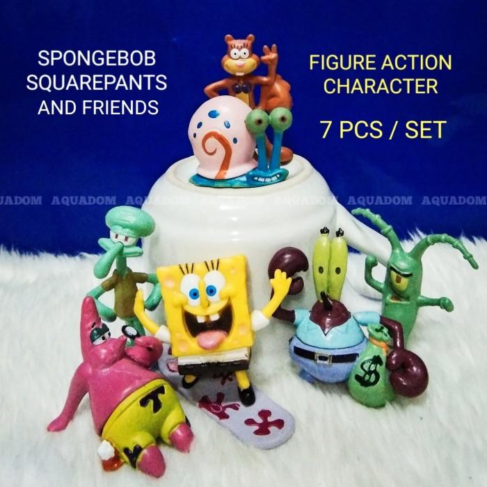 Jual Figure Action Set Spongebob Dkk Hiasan Aquarium Mainan Dekorasi Ruang Kab Indramayu Aquadom Tokopedia