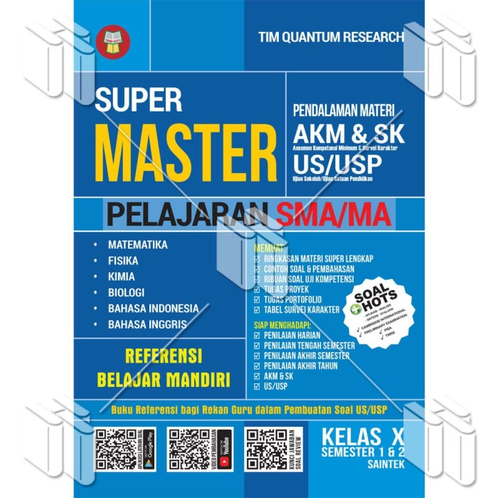 Jual Buku Super Master Akm Sk Dan Materi Us Usp Sma Ma Kelas X Saintek Kab Bandung Warung Literasi Tokopedia