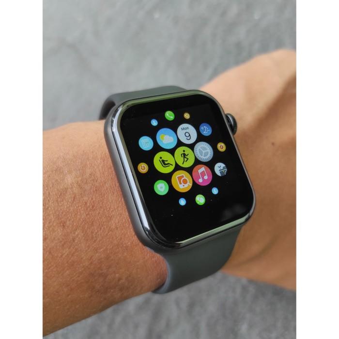 Foto Produk Smartwatch Smart Watch Telepon Fundo Pro Watch 4 Model Apple Watch 4 5 - Hitam dari Triangle Store Jakarta