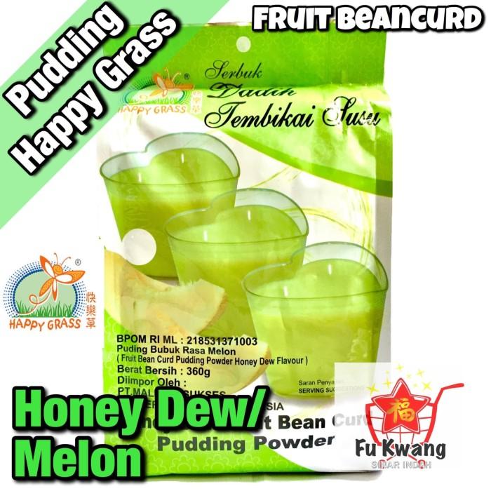 Foto Produk Fruit Bean Curd Pudding Powder Honey Dew Melon Happy Grass 360 gram dari Fu Kwang Mart