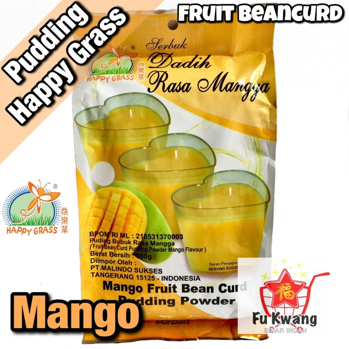 Foto Produk Fruit Bean Curd Pudding Powder Mango Mangga Happy Grass 360 gram dari Fu Kwang Mart