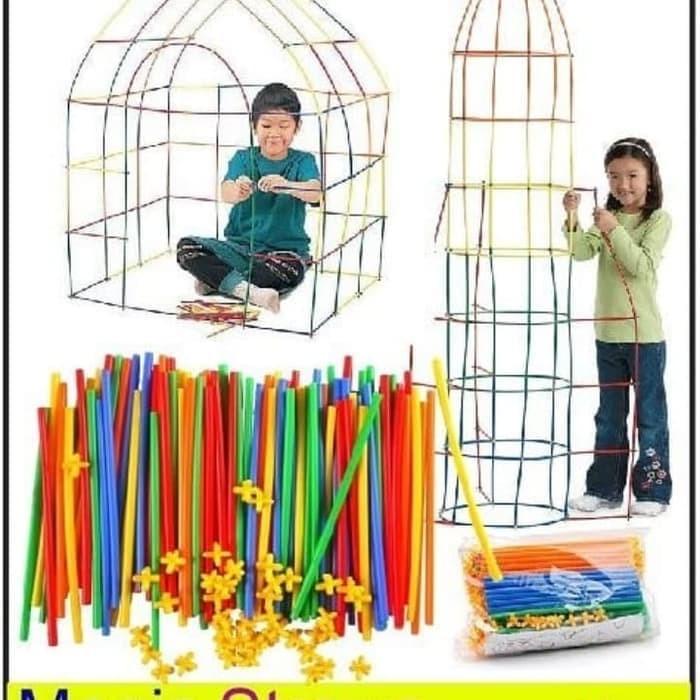 Foto Produk Mainan Edukasi Straws Connector Straws Builder Straws Architecture dari Lumi Toys