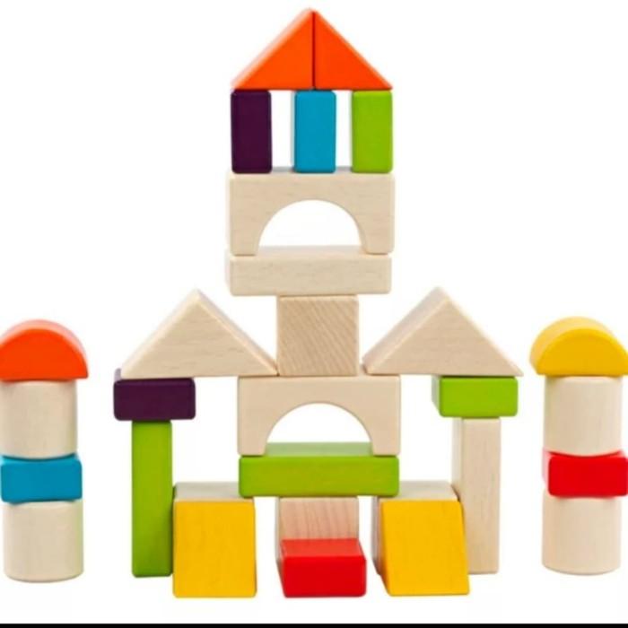 Foto Produk Mainan edukasi anak Balok kayu bentuk 30pcs/building Dream Block dari AUTO KID II