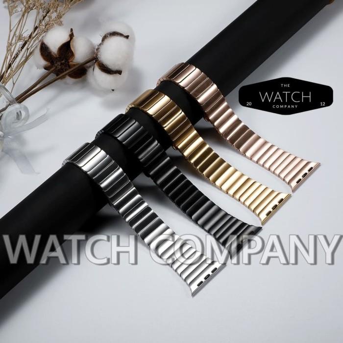 Foto Produk Strap Apple Watch iwatch Space Link Bracelet Stainless Steel 42mm 38mm - Hitam, 44mm 42mm dari Watch Company