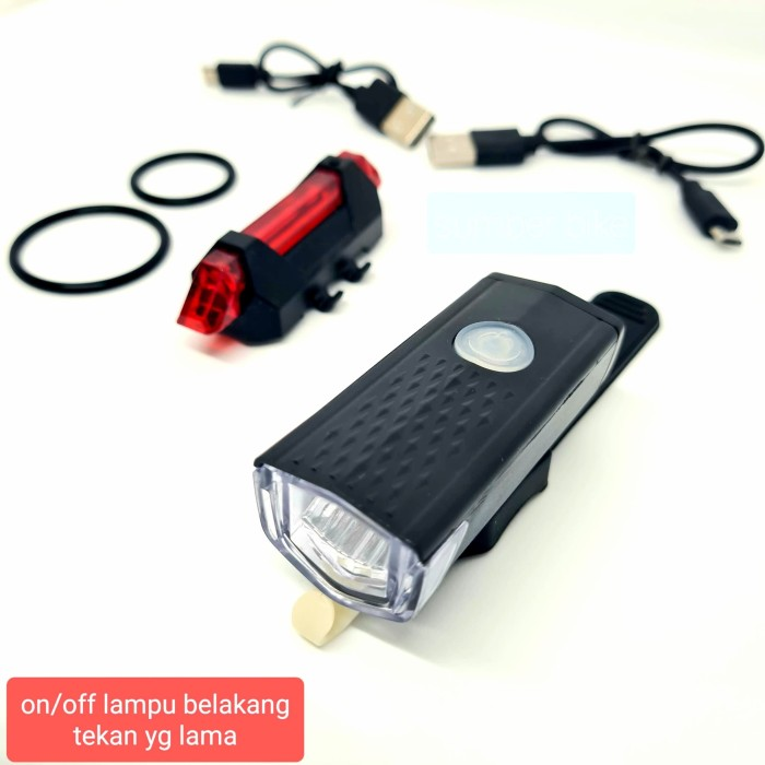 Foto Produk Paket lampu depan dan belakang sepeda dari sewa bd ps 4 bandung