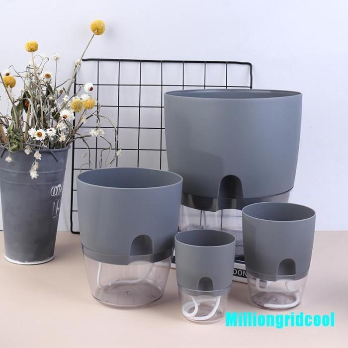 Jual Transparent Plastic Flower Pot Pots For Plants Self Watering Jakarta Barat Groovita Tokopedia