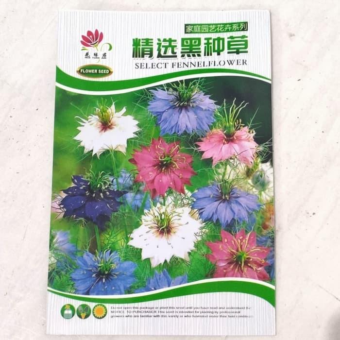 Foto Produk Biji Benih Bibit bunga Persian Jewel Mix Nigella damascena dari Biji Benih