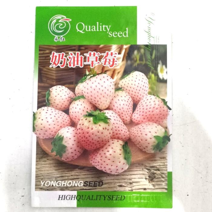Foto Produk Benih Biji Bibit Strawberry putih (White) Retail Pack dari Biji Benih