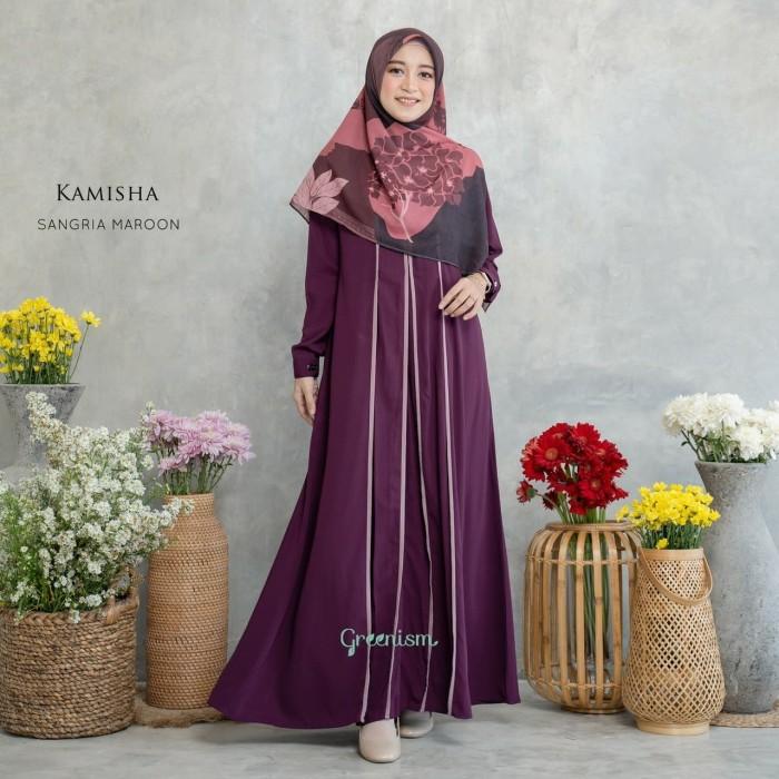 Jual Kamisha Dress Gamis Greenism Kota Depok Adzkiamaula Tokopedia