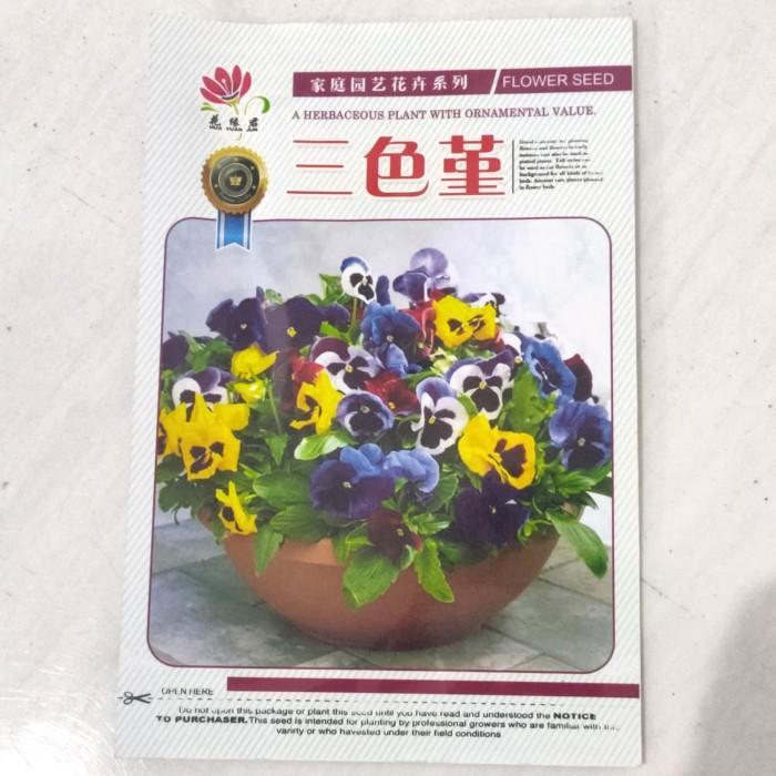 Foto Produk Biji Benih Bibit bunga tricolor pansy mix retail pack dari Biji Benih