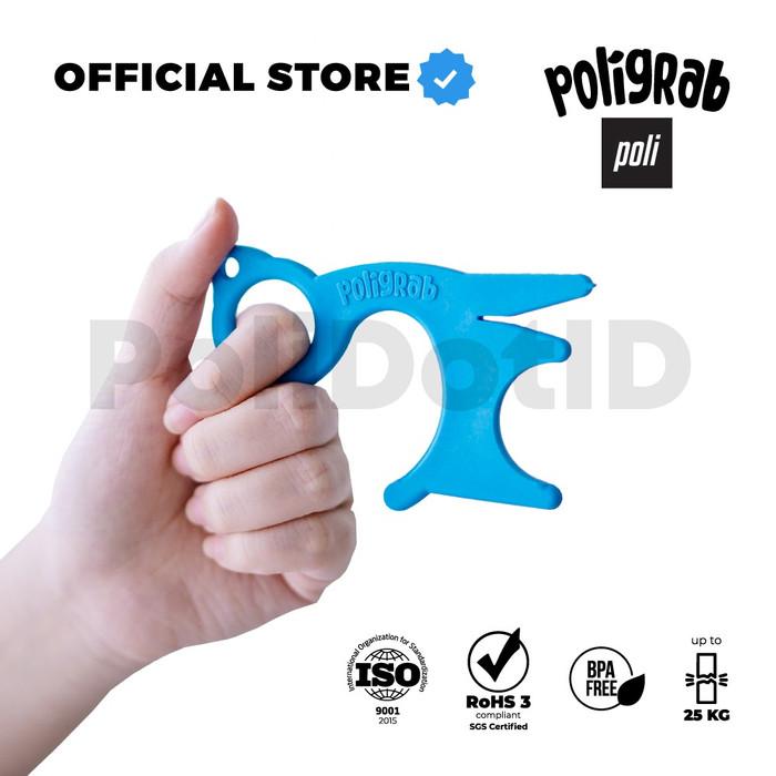 Foto Produk Poligrab #NoTouch Alat Anti Corona Buka Pintu Door Opener - Biru Muda dari PoliDotID