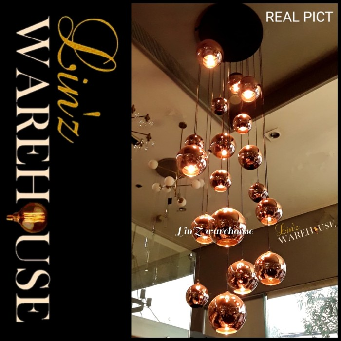 Jual Lampu Gantung Void Custom 18 Copper Glass Ball Pendant Light Jakarta Utara Lin Z Warehouse Tokopedia