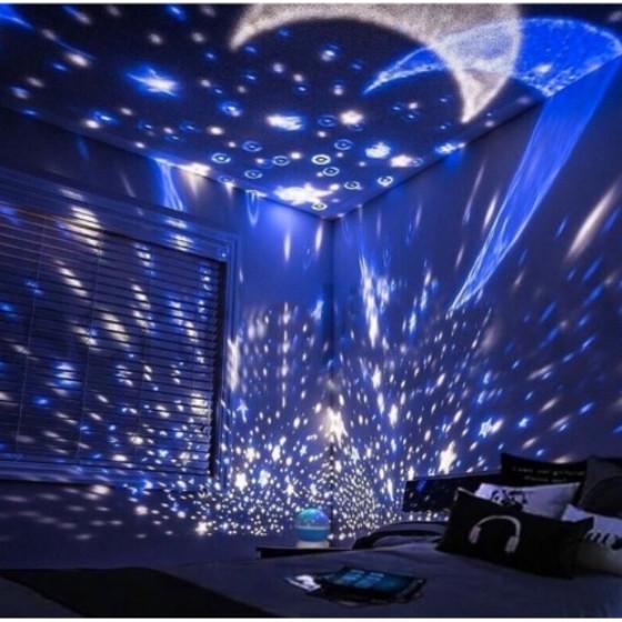 Foto Produk Lampu Proyektor Langit Malam Bintang 2In1 untuk Pesta Lampu Tidur Anak - Merah Muda dari Acc Perhiasan