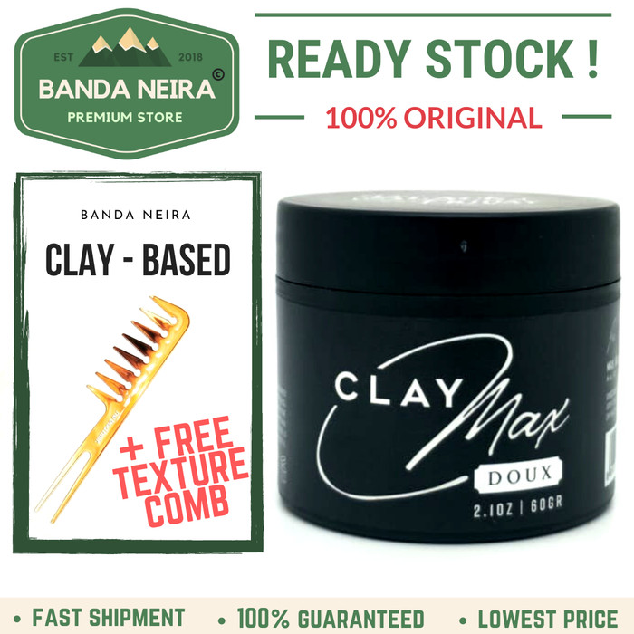 Foto Produk Black Friday ClayMax Clay Max Doux Pomade Original Lokal Murah dari Banda Neira Store