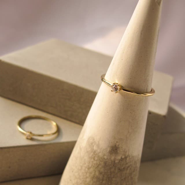 Foto Produk Dear Me - QUINN RING 925 Sterling Silver 14k Gold Plated Cincin Wanita dari Dear Me Jewelry