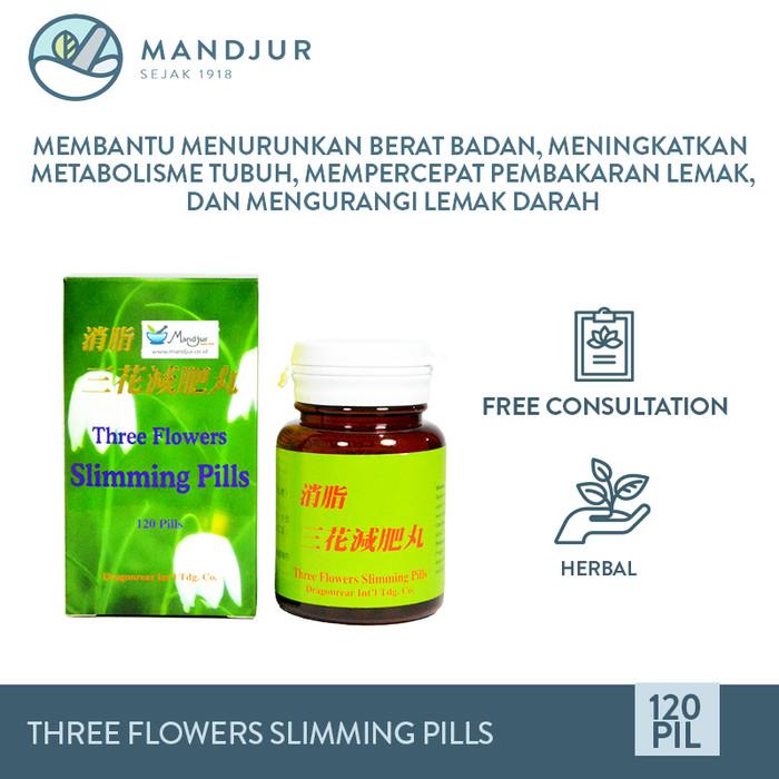 Foto Produk Three Flowers Slimming Pills - Obat Penurun Berat Badan dari mandjur
