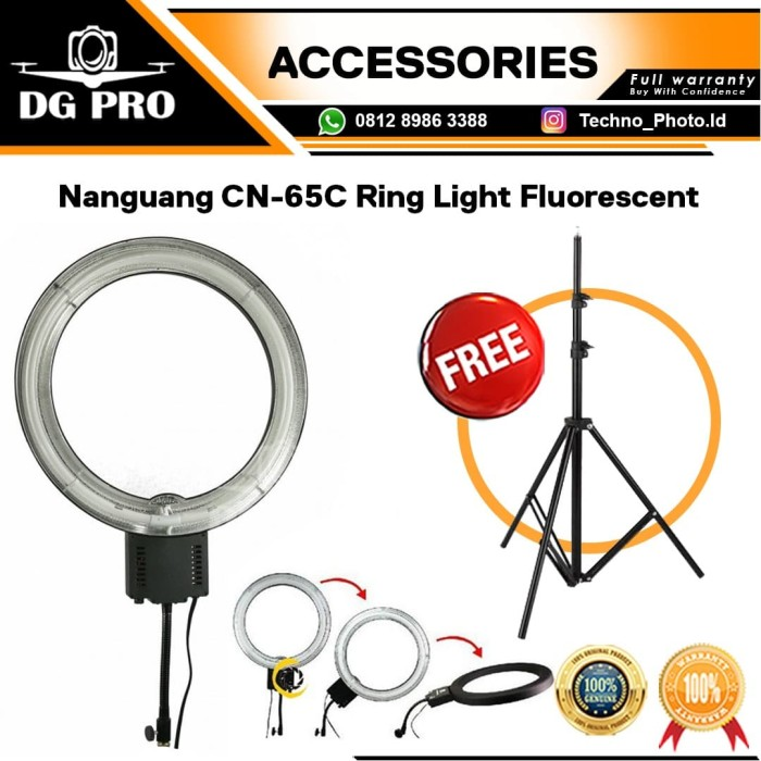 Foto Produk Ringlight Nanguang CN-65C LED Lampu Ring Lite Ring Light Fluorescent dari DG PRO