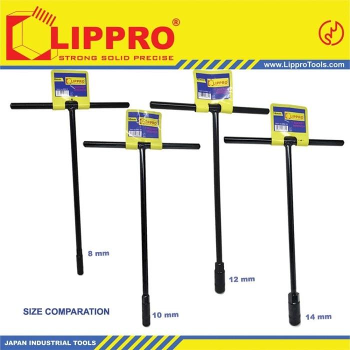 Foto Produk BUNDLING LIPPRO KUNCI SOK T SET 4 PCS 8 - 10 - 12 - 14 MM PAKET dari JABAR TEKNIK