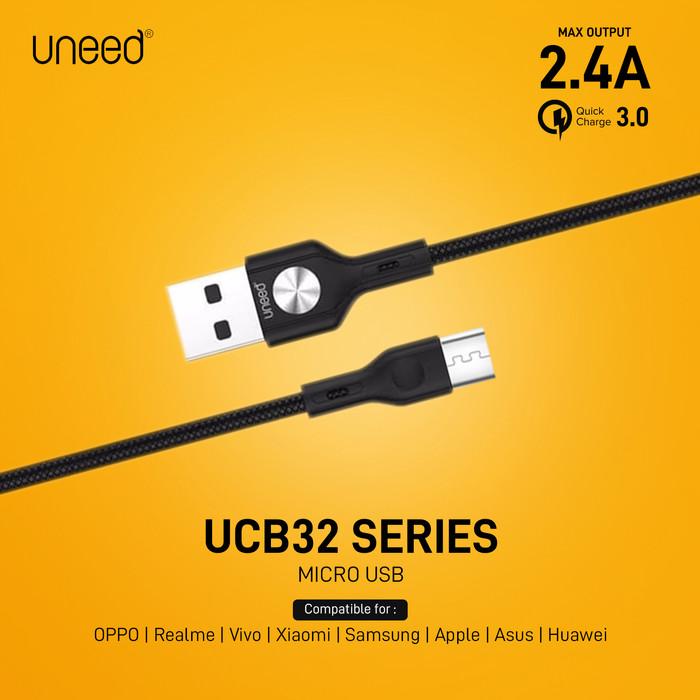 Foto Produk UNEED Kabel Data Micro USB Fast Charging 2.4A - UCB32M - BLACK dari Uneed Indonesia