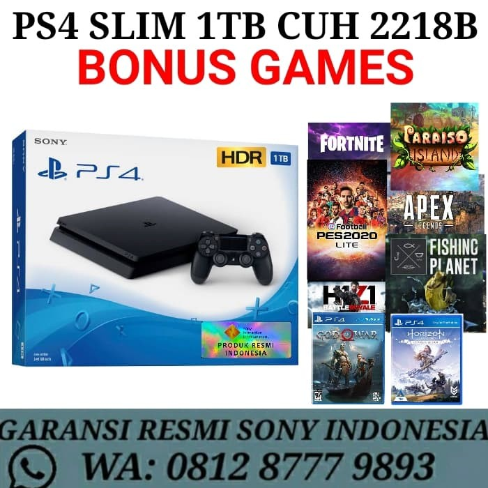 Foto Produk PS4 SLIM 1TB GARANSI RESMI SONY INDONESIA dari Divisi Game