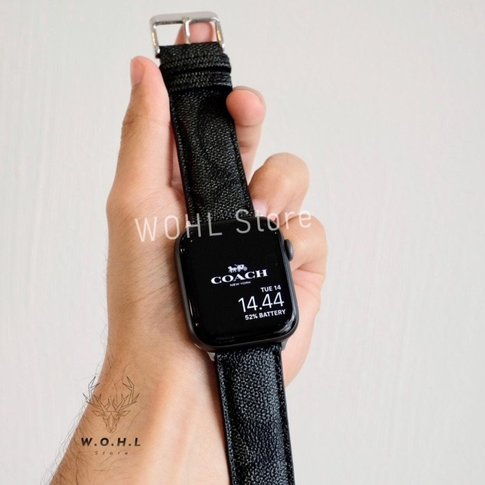 Jual Strap Apple Watch Band Coach Mk Monogram Iwatch Series 4 5 6 44mm 38mm Jakarta Barat Wohl Store Tokopedia