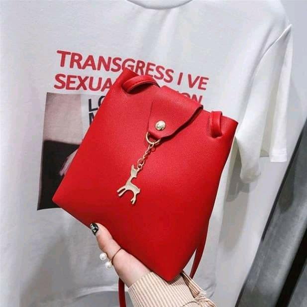 Foto Produk *HELEN* SLING BAG RUSA RUBAH TAS SLEMPANG ALA KOREA MINIMALIS FASHION dari Marie Shop