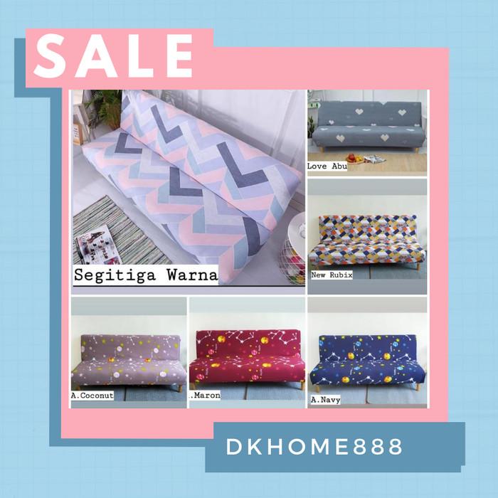 Foto Produk cover sofa bed /sarung sofa bed motif - segitiga warna dari dkhome888
