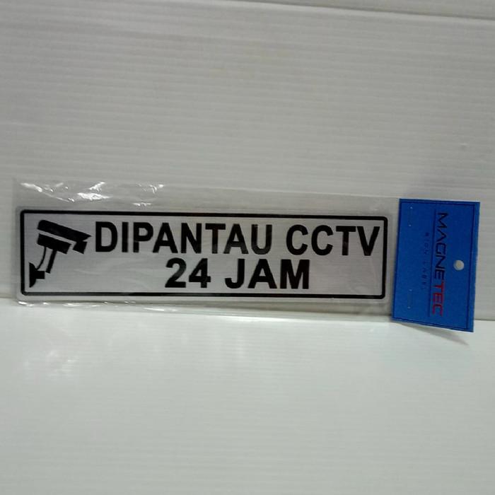 """Foto Produk Sign Label Sticker MAGNETEC """"DIPANTAU CCTV 24 JAM"""" dari officemart"""