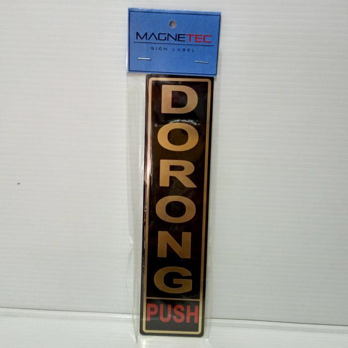 """Foto Produk MAGNETEC Sign Label Sticker Untuk Pintu """"Dorong"""" Black Gold dari officemart"""