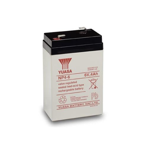 Foto Produk Baterai YUASA 6 Volt 4 Ah Original Aki Kering Accu 6volt 6v 4Ah Asli dari Data Point Cellindo