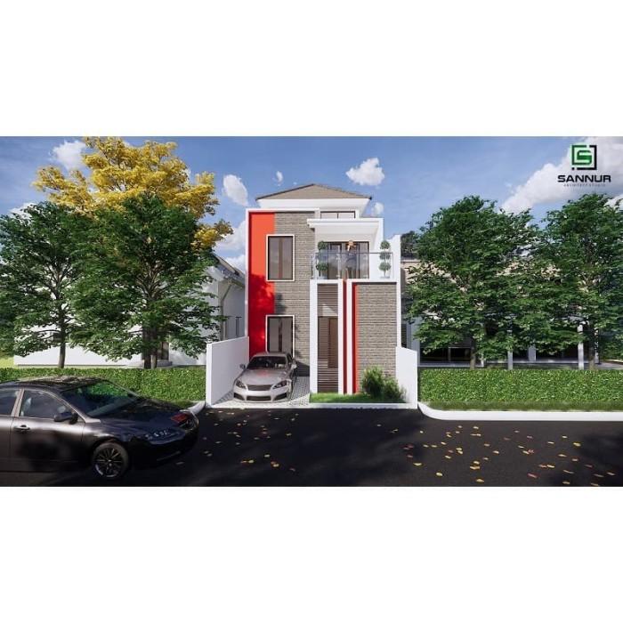 Foto Produk Produk Jadi Desain Rumah minimalis 2 lantai ukuran 6x12.5 meter dari Sannur Arsitek