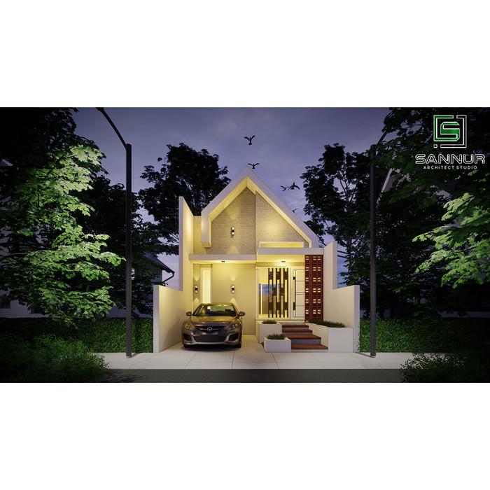 Foto Produk Produk Jadi Desain Rumah minimalis 1 lantai ukuran 5.5x14 meter (tipe dari Sannur Arsitek