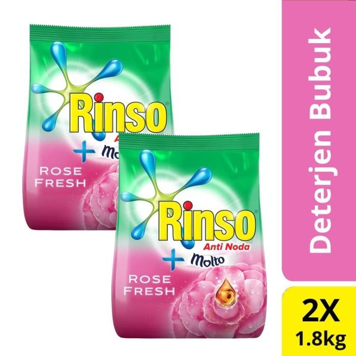 Foto Produk Rinso Molto Deterjen Bubuk Anti Noda Rose Fresh 1,8L Twin Pack dari Unilever Official Store
