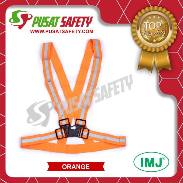 Foto Produk Rompi Kerja Safety Karet Elastis V - Orange dari Pusat Safety Online