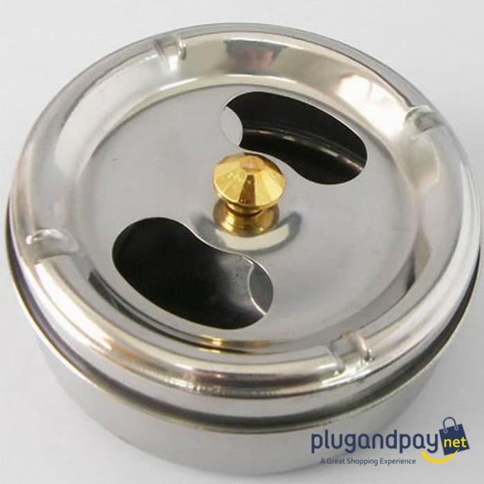 Foto Produk Asbak Rokok Putar - Portable Stainless Steel Ashtray - plugandpay dari plugandpay
