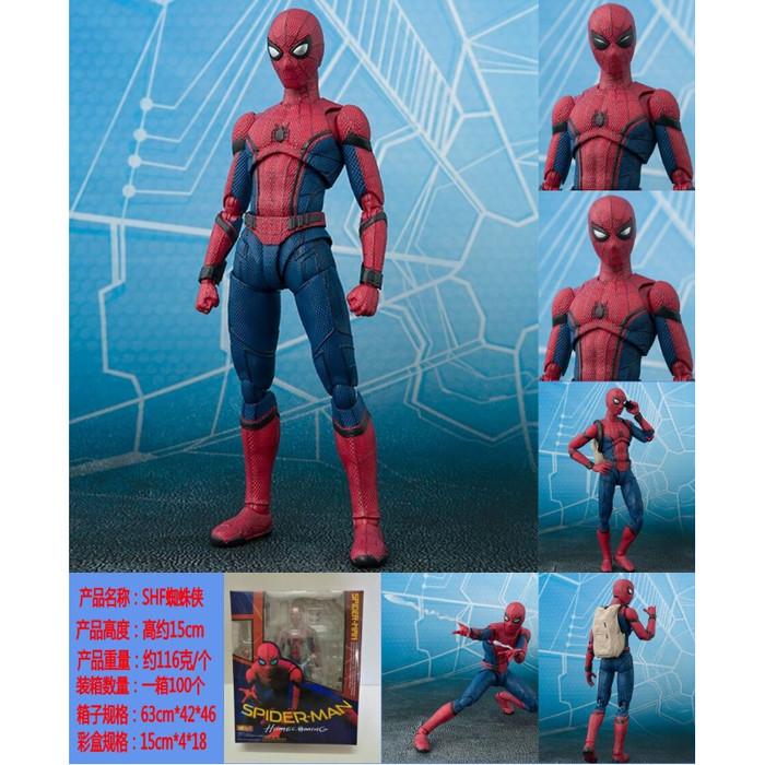 Foto Produk Spiderman Action Figure SHFiguarts Spider man HomeComing Best Quality dari Acc Perhiasan