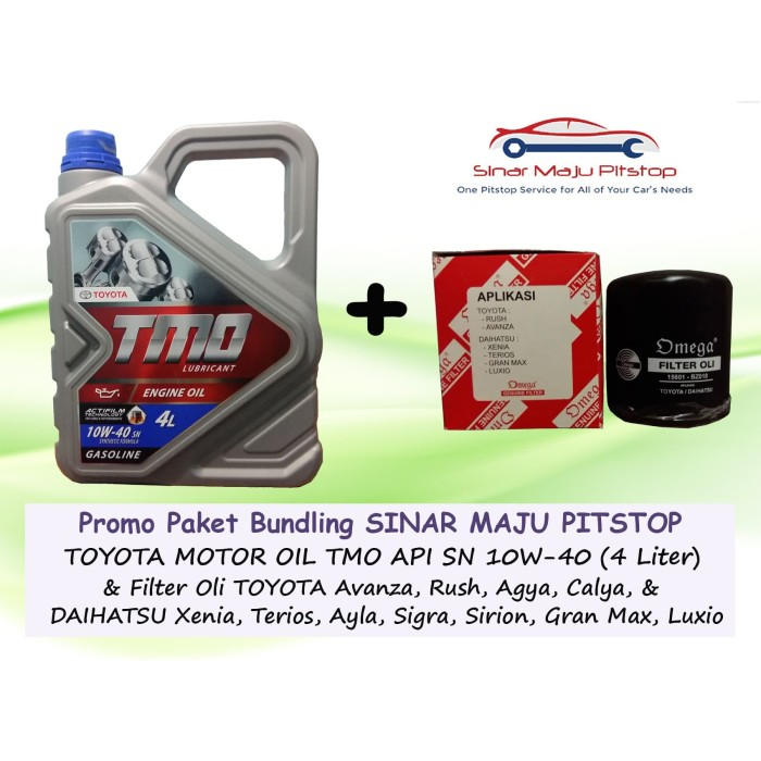 Jual Bundling Oli Mobil Toyota Motor Oil Tmo 10w 40 Filter Oli Calya Jakarta Barat Sinar Maju Pitstop Tokopedia