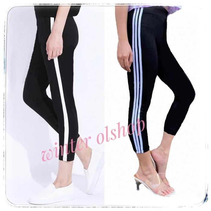 Jual Celana Legging List Wanita Bawahan Fashion Capri Import Senam Capri List03 Kota Tangerang Winter Olshop Tokopedia