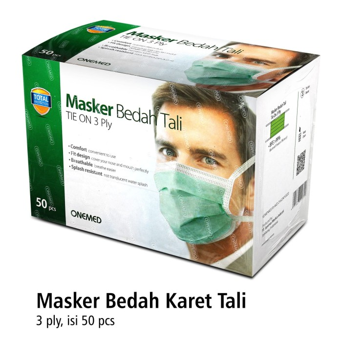 Foto Produk Masker Tali OneMed box 50pcs dari OneMed-Medicom