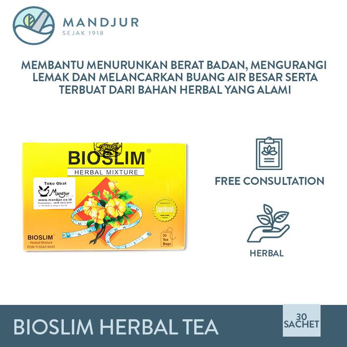 Foto Produk Bioslim Herbal Tea - Teh Pelangsing dan Penurun Berat Badan dari mandjur
