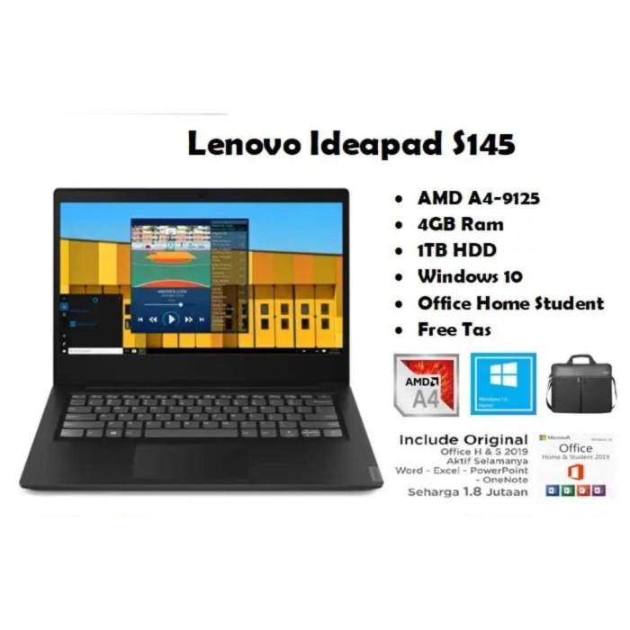 Jual Laptop Lenovo Ideapad S145 Amd A4 9125 4gb 1tb Radeon R3 Win 10 Ohs Jakarta Pusat Bestquality Com Tokopedia