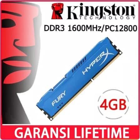 Foto Produk RAM KINGSTON HYPER X FURY GAMING LONGDIMM DDR3 8GB (4GB*2) PC 12800 dari Smith Tom
