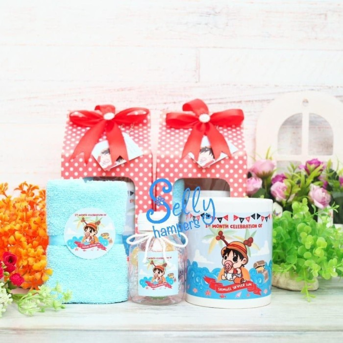 Jual Baby One Month Hampers Souvenir Baby One Month Michelle Pesanan Khusus Jakarta Barat Selly Hampers Tokopedia