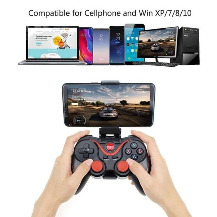 Foto Produk Gamepad Wireless Bluetooth X3 For Android Windows PC SmartTV Phone dari PlanetAksesories