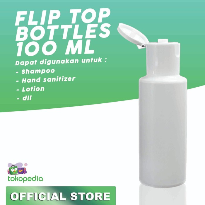 Foto Produk BOTOL FLIP TOP PUTIH 100ML dari Hairnerds Professional