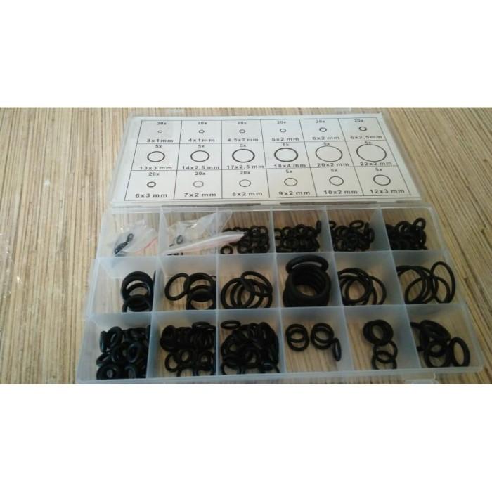 Foto Produk Import KARET RUBBER SEAL O RING SET 225 Pcs dari DO OFFICIAL STORE