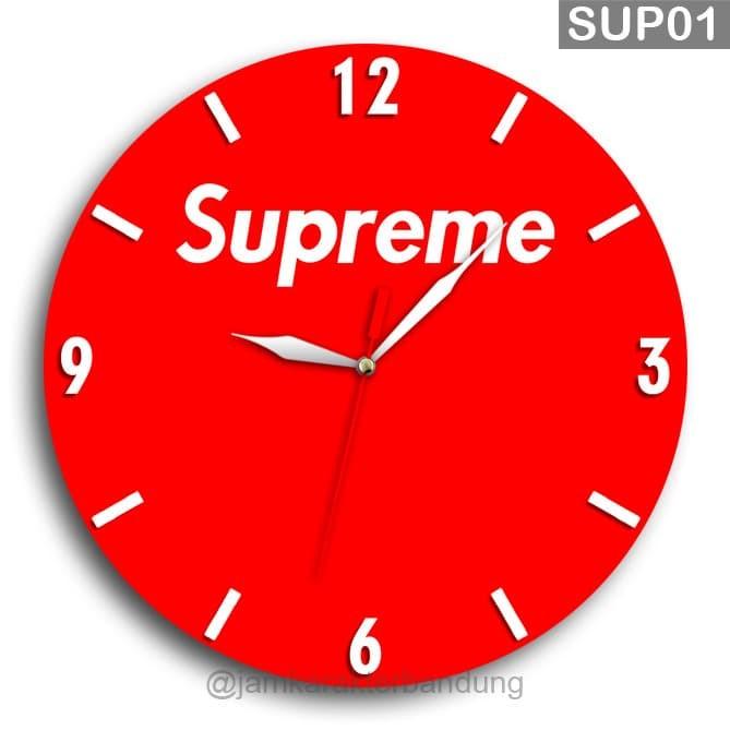 Jual Jam Dinding Kayu Logo Supreme Unik Sup01 Kab Bandung Barat Jam Karakter Bandung Tokopedia