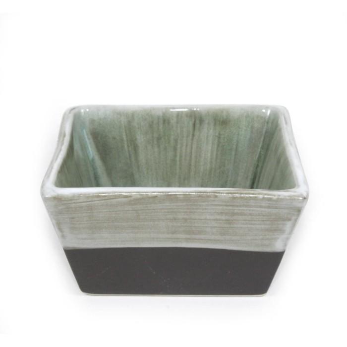 Foto Produk Artisan Ceramic | Chongja Brown Green Square Bowl | Mangkok Keramik dari Artisan Ceramic