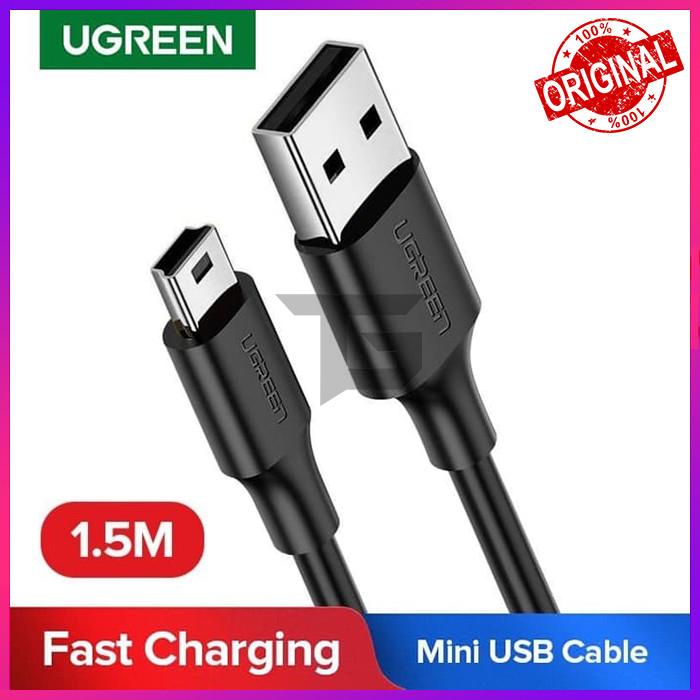Foto Produk UGREEN 10385 KABEL USB TO MINI USB CABLE DATA FAST CHARGING HARD DISK dari TopGear Superhero ID
